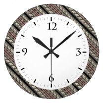 Cute decorative ukrainian patterns design large clock