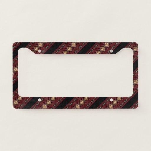 Cute decorative ukrainian stripes patterns license plate frame