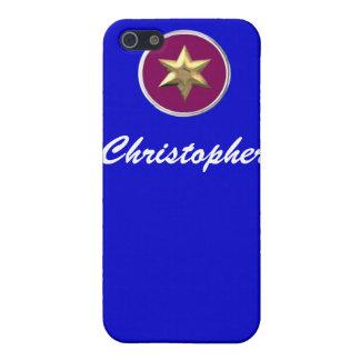 CUTE Deep Blue Boys Jewish Star of David Iphone 4 iPhone 5 Cases