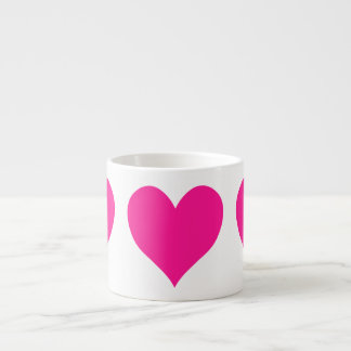 Cute Deep Pink Heart Espresso Cup