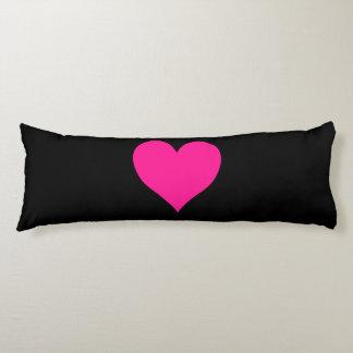 Cute Deep Pink Heart Body Pillow