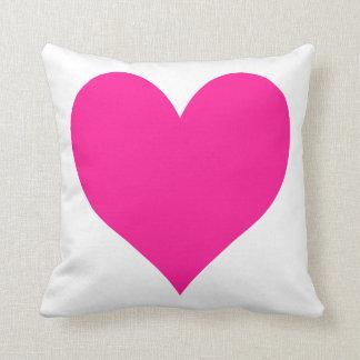 Cute Deep Pink Heart Throw Pillows