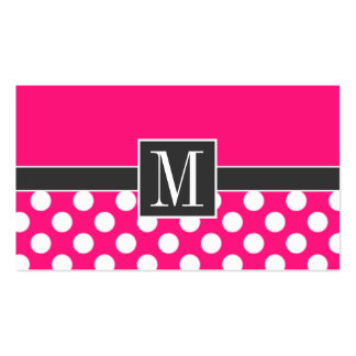 Cute Deep Pink Polka Dots Business Cards