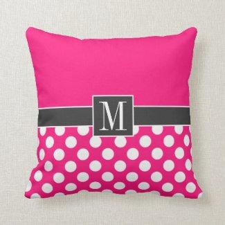 Cute Deep Pink Polka Dots Pillows