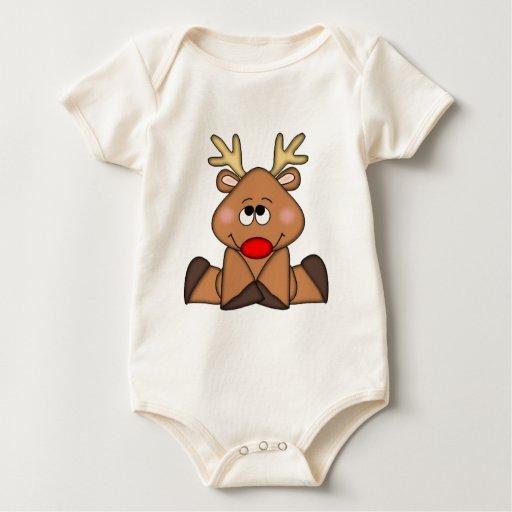 Cute Deer, Christmas Baby Creeper