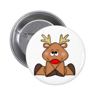 Cute Deer, Christmas Pinback Button