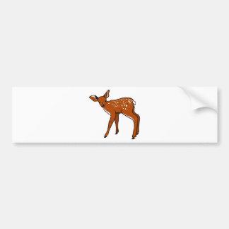 Cute Deer Fawn Bumper Sticker