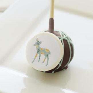 Cute deer fawn folk art fair isle baby shower cake pops