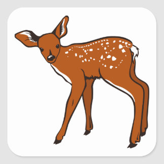 Cute Deer Fawn Square Sticker