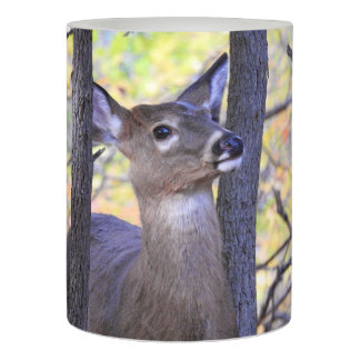 Cute Deer Hiding in the Trees Flameless Candle