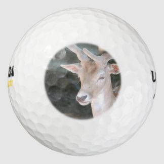 Cute Deer Pack Of Golf Balls