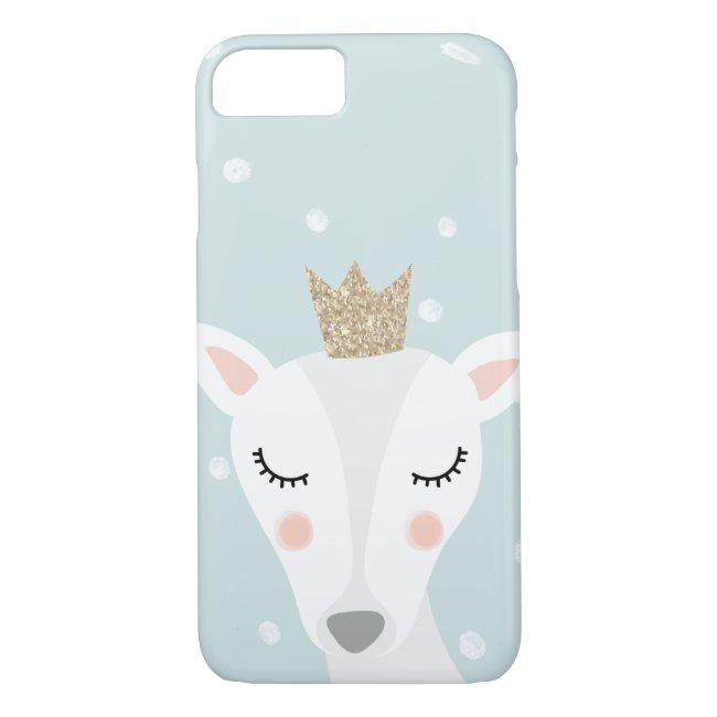 Cute Deer   Soft Blue   Winter