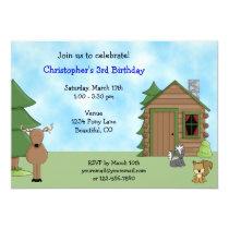 Cute Deer, Woodland Animals, Cabin Birthday Card