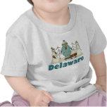 Cute Delaware Snowman T-shirt