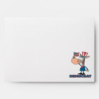 cute democratic donkey cartoon character envelope