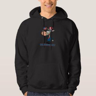cute democratic donkey cartoon character hoodie