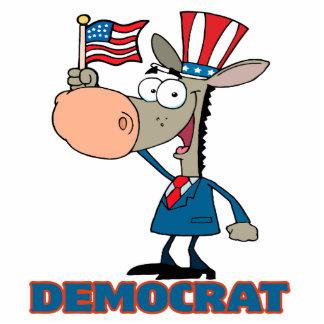 cute democratic donkey cartoon character photo sculptures