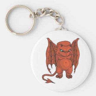 Cute Demon Basic Round Button Keychain