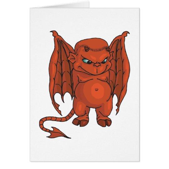 Cute Demon Card