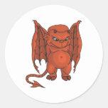 Cute Demon Classic Round Sticker