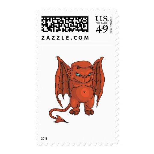 Cute Demon Postage Stamp