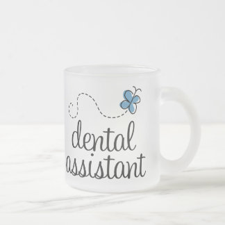 Cute Dental Assistant Frosted Glass Coffee Mug