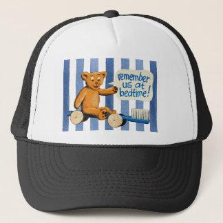 Cute Dental Bear - Blue Stripes Trucker Hat