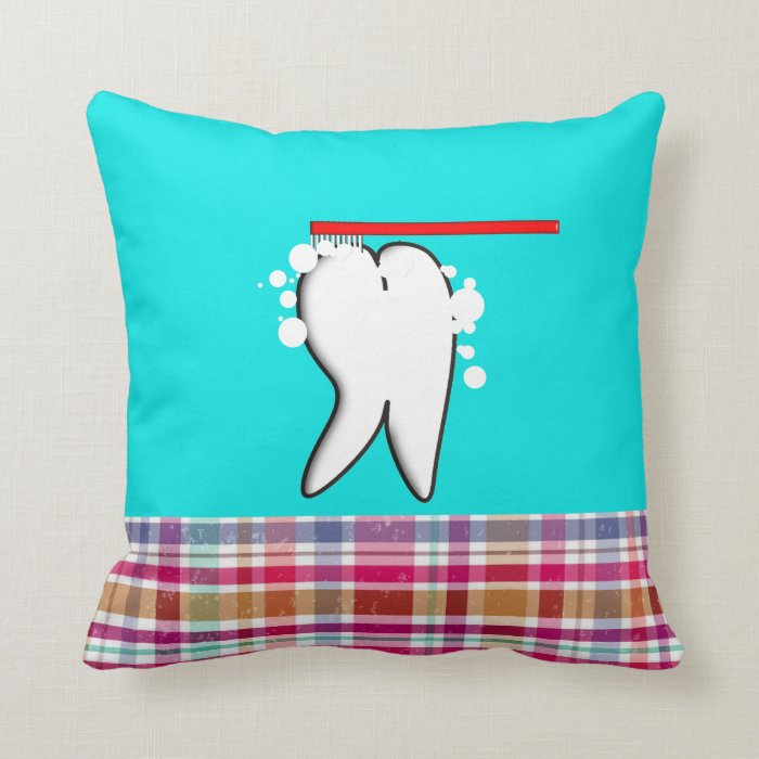 Cute Dental Big Tooth Design Pillow Zazzle