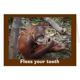 Cute Dental Health Advice for Teeth Card