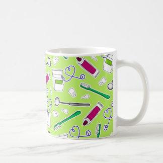 Cute Dentist / Dental Hygienist Love Green Purple Coffee Mug