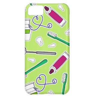Cute Dentist / Dental Hygienist Love Green Purple Cover For iPhone 5C