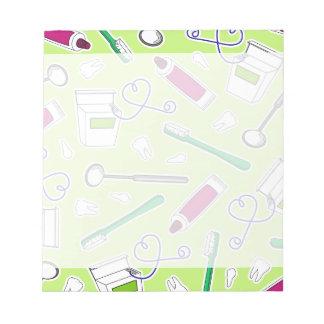 Cute Dentist / Dental Hygienist Love Green Purple Notepad