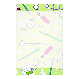 Cute Dentist / Dental Hygienist Love Green Purple Stationery