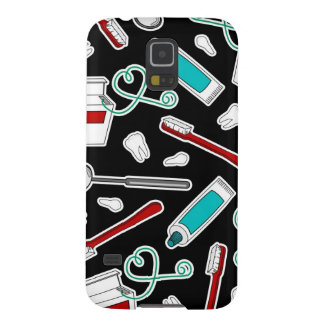 Cute Dentist / Dental Hygienist Print Black Galaxy S5 Cover