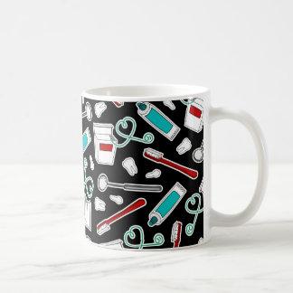 Cute Dentist / Dental Hygienist Print Black Coffee Mug