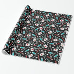 Cute Dentist / Dental Hygienist Wrapping Paper Gift Wrapping Paper