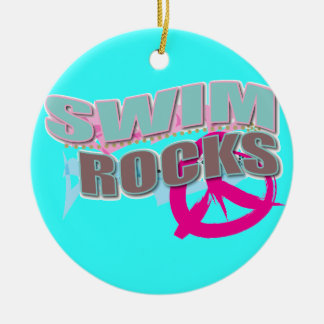 Cute Design for Swimmers Christmas Ornament