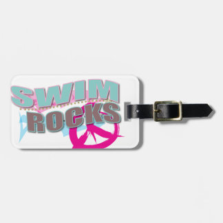 Cute Design for Swimmers Travel Bag Tag