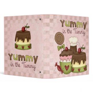 Cute Dessert Recipe Binder binder