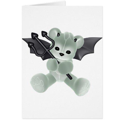 CUTE DEVIL BEAR CARD