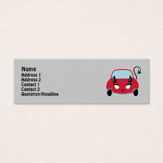 Cute Devil Car Profile Cards
