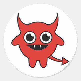 Cute Devil Classic Round Sticker