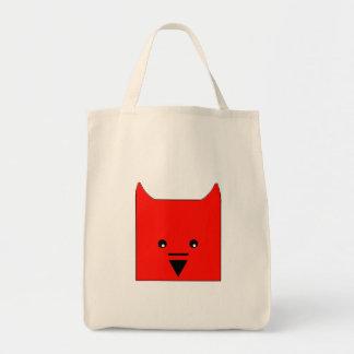 Cute Devil Grocery Tote Bag