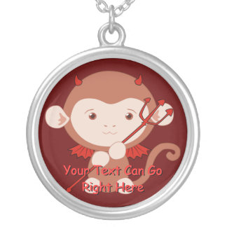Cute Devil Monkey Necklace