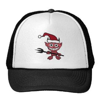 Cute Devil Wearing Santa Christmas Hat