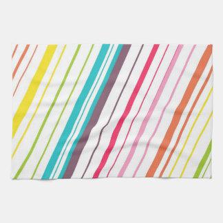 Cute Diagonal Rainbow Stripes Kitchen Towel
