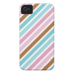 Cute Diagonal Thick Stripes Custom iPhone 4 Covers