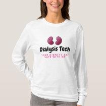 Cute Dialysis Tech Long Sleeve Kidney T-Shirt