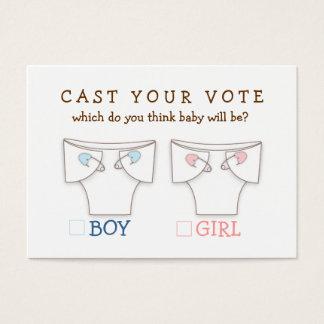 Cute Diaper Gender Reveal Cast Your Vote Ticket