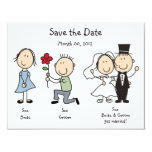 Cute Dick and Jane Save the Date Cards